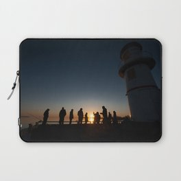 Fishing by the Sunset Laptop Sleeve
