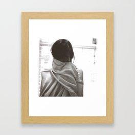 Self Portrait With Sheet Framed Art Print