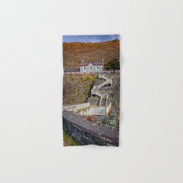Hospital Steps at Llanberis Quarry Hand & Bath Towel