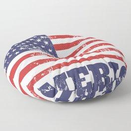 Handmade in America Rubber Stamp Floor Pillow