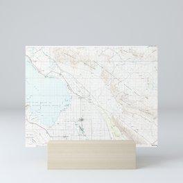CA Salton Sea 299162 1985 topographic map Mini Art Print