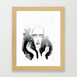 Charles in a Feather Boa Framed Art Print