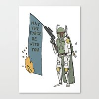 boba Canvas Prints featuring Boba by Lewis Farrow