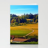 farm Stationery Cards featuring From farm to farm by Patrick Jobst