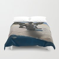 nudes Duvet Covers featuring angel  by mark ashkenazi