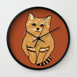 The peculiar sand cat Wall Clock