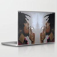 marley Laptop & iPad Skins featuring Marley Portrait by Samaa Ahmed