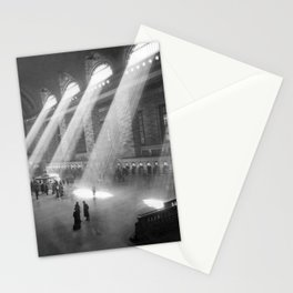 New York Grand Central Train Station Terminal Black and White Photography Print Stationery Cards