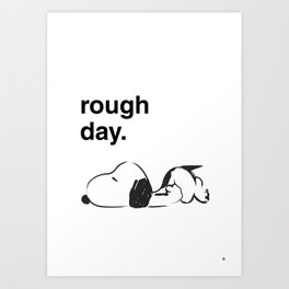 Snoopy - rough Art Print
