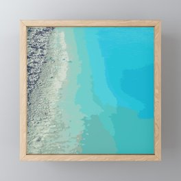 Abstract Turquoise Beach Photography Framed Mini Art Print