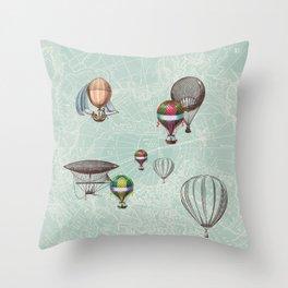 Balloon Festival Throw Pillow