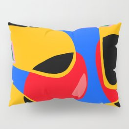 Blue yellow and black Pillow Sham