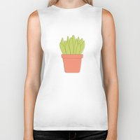 plant Biker Tanks featuring Plant by Yellow Chair Design