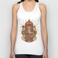ganesha Tank Tops featuring Ganesha: Lord of Success by Valentina Harper
