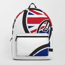 British Cyclist Cycling Union Jack Flag Icon Backpack