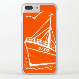 Ross Tiger in Orange Clear iPhone Case