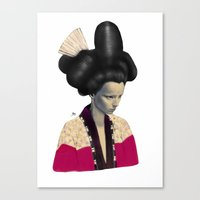 geisha Canvas Prints featuring Geisha by Albert Lee
