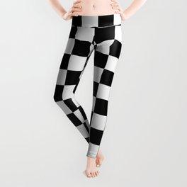 Checkered (white + black) Leggings
