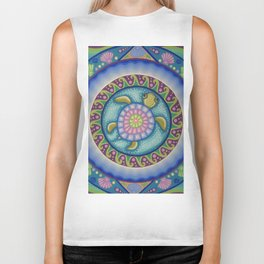 Little Turtle Mandala Biker Tank