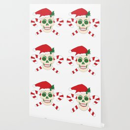 Creepy Christmas Santa Skull Wallpaper