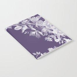 Stardust Violet Indigo Floral Motif Notebook