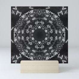 White Runic Circle Mini Art Print
