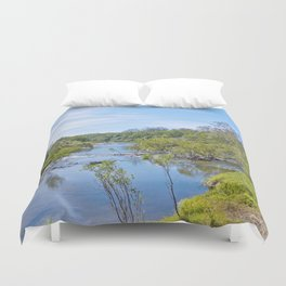 Beautiful tranquil river in the tropics Duvet Cover