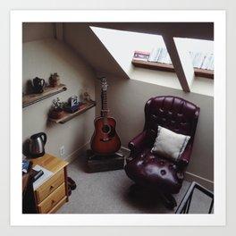 Room Corner Art Print