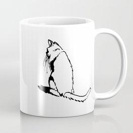 Cat Cold Shoulder Coffee Mug