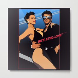 80s Stallone synthwave Metal Print
