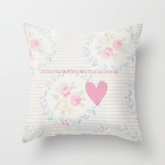 Go Back In Time Valentines  Throw Pillow