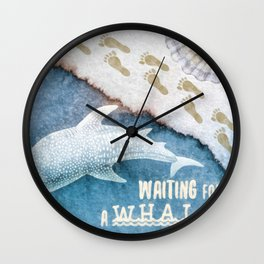 Waiting for a Whale Wall Clock