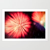 philippines Art Prints featuring Fireworks - Philippines 5 by David Johnson