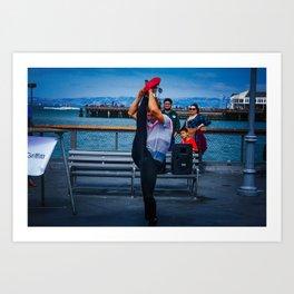 Seaside Contortionist Art Print