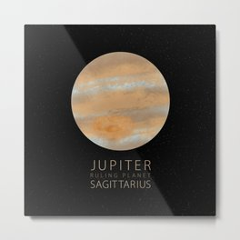 Sagittarius - Ruling Planet Jupiter Metal Print