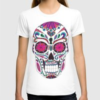 sugar skull T-shirts featuring Sugar Skull by Laura Maxwell