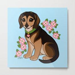 Esther Loves Dogwood Metal Print