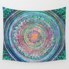 Pink and Turquoise Mandala Wall Tapestry