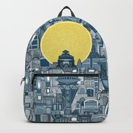 space city sun blue Backpack