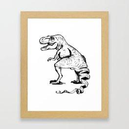 Unravelled T-Rex Dinosaur Framed Art Print
