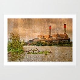 Huntly Power Station Art Print