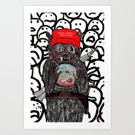 Pussy's In Power Art Print