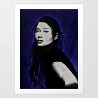 lucy Art Prints featuring lucy by Taylor Jean