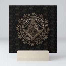 Freemasonry symbol Square and Compasses Mini Art Print