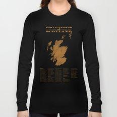 Distilleries of Scotland (woodpress) Long Sleeve T-shirt