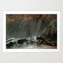 Marine Waterspout Gustave Courbet 1870 Art Print