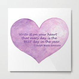Heart Quote Metal Print