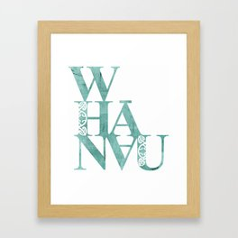 Whanau Framed Art Print