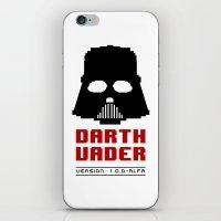 8 bit iPhone & iPod Skins featuring 8-bit Darth Vader by Sylwia Borkowska