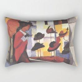 August Macke Hat Store 1914 Rectangular Pillow